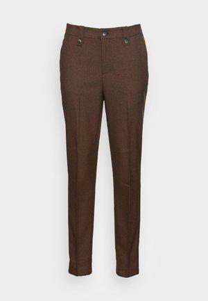 KARA TWIGGY MELANGE PANT - Trousers - brown