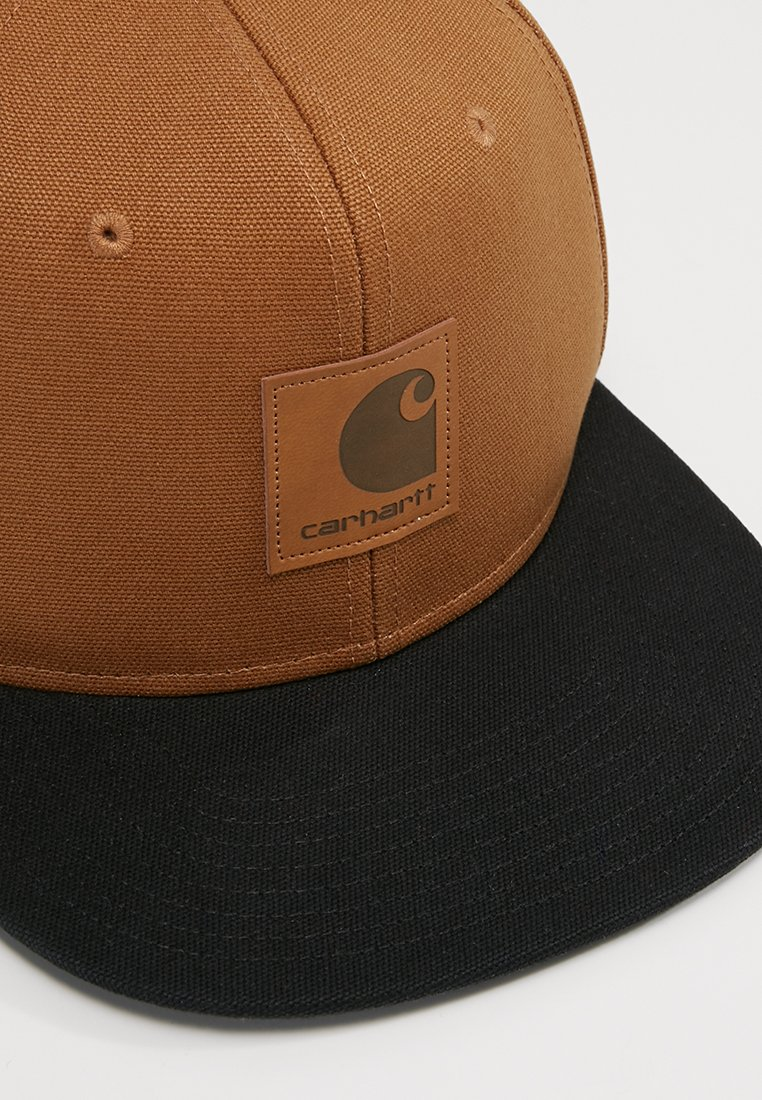 Carhartt Wip Logo Bicolored - Cap Hamilton Brown/black/braun