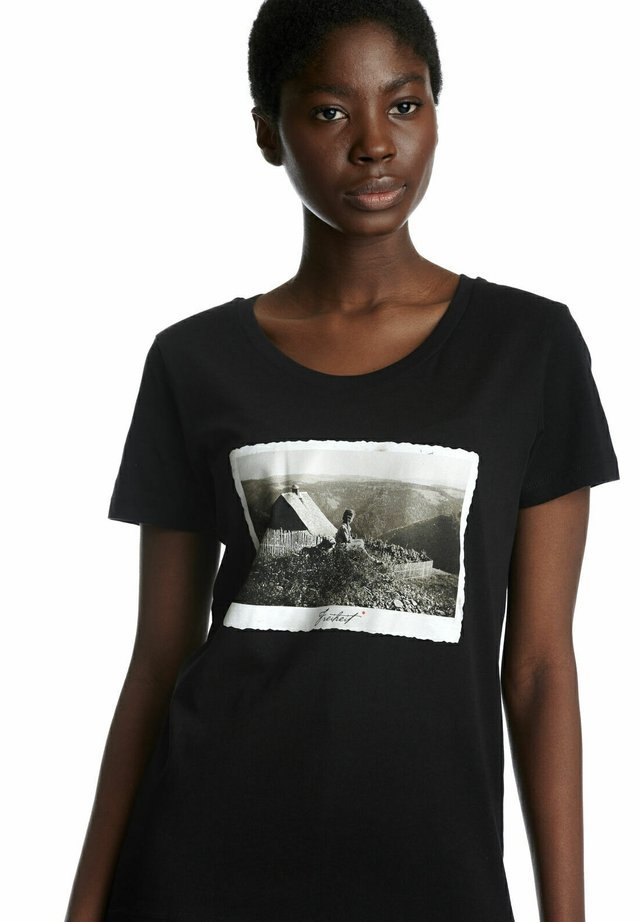 ARTWOOD HEIMAT  - Print T-shirt - schwarz