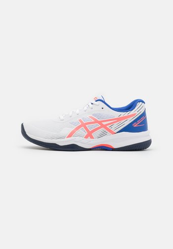 GEL-GAME 8 - Multicourt tennis shoes - white/blazing coral