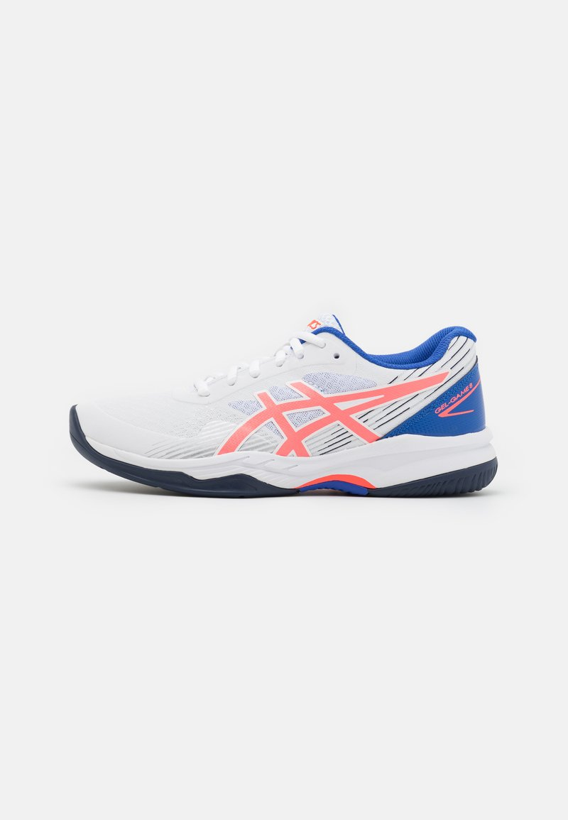 ASICS - GEL-GAME 8 - Multicourt tennis shoes - white/blazing coral