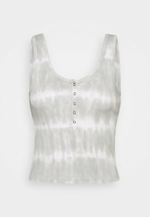 BARE HENLEY TANK WASH - Print T-shirt - white