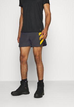 SPLITSHORT - Sports shorts - black/actgold