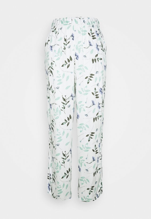 PANT PRESSED LEAVES - Pyjamahousut/-shortsit - snow white