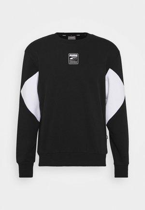 REBEL CREW SMALL LOGO - Sweatshirt - black