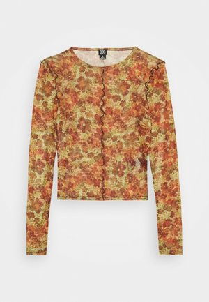 LEAVES CROP - Long sleeved top - orange