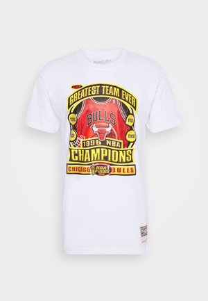 LAST DANCE BULLS '96 CHAMPS TEE - T-shirts med print - white