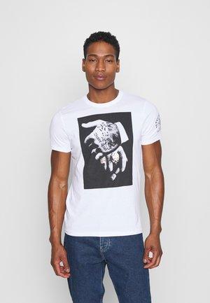 VIGGOX - Print T-shirt - optic white