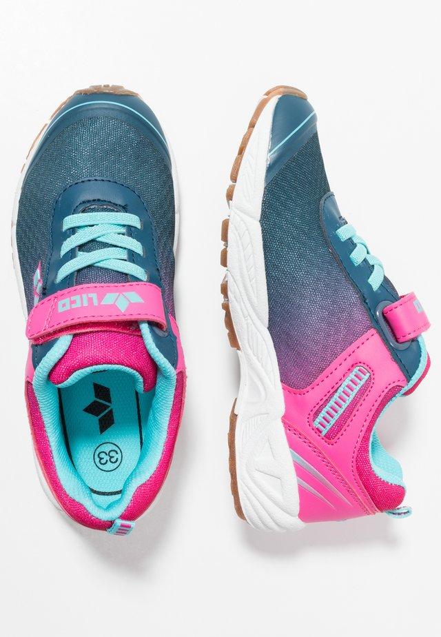 BARNEY - Sneakers basse - marine/pink/türkis