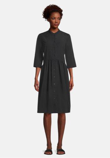 MIT KRAGEN - Shift dress - schwarz