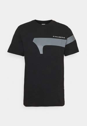 1 REFLECTIVE GRAPHIC R T  - T-shirt med print - black