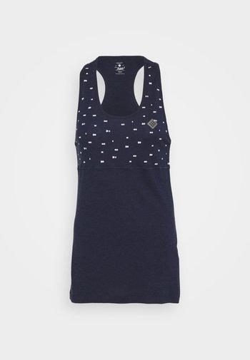 DEEL NUL TANK WOMEN - Treningsskjorter - peacoat
