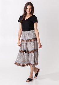 Indiska - ORA - Áčková sukně - beige - 0