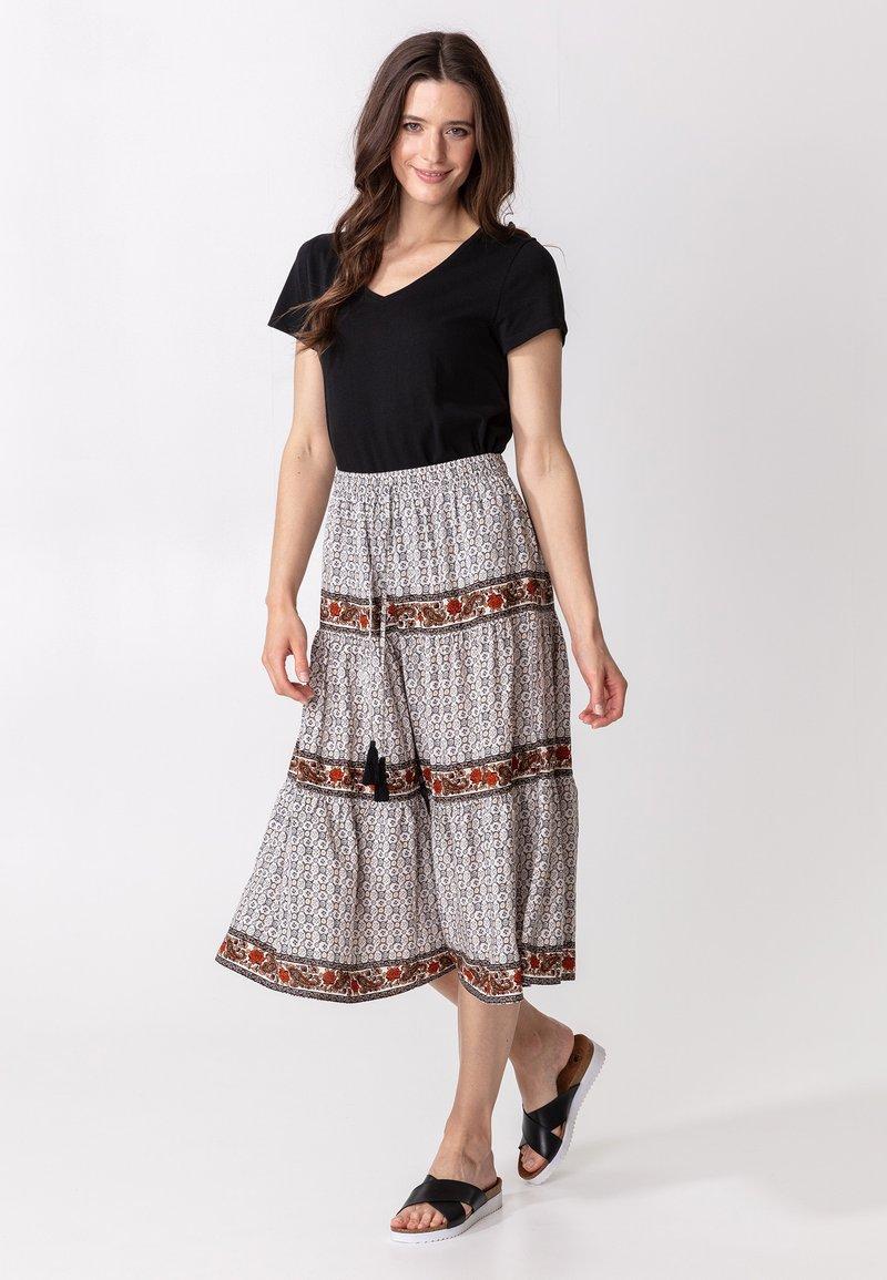 Indiska - ORA - Áčková sukně - beige