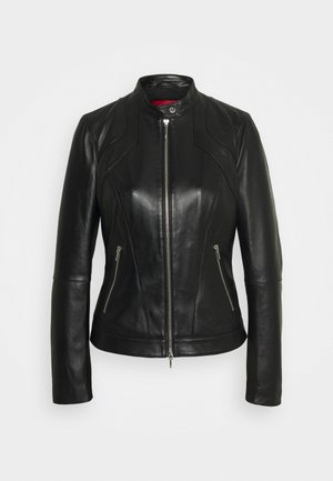 LAJESA - Leather jacket - black