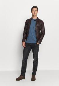 Oakwood - CASEY  - Leather jacket - wine - 1