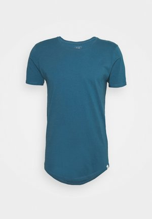 SHAPED TEE - Print T-shirt - teal