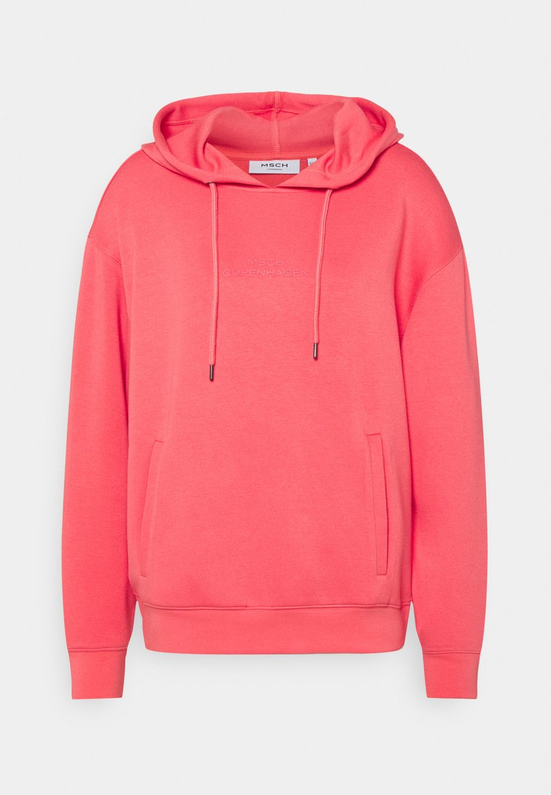Moss Copenhagen - LOGO HOOD  - Sweatshirt - rose of sharon