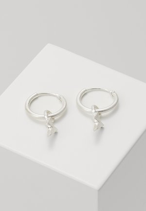 LIGHTNING HOOP EARRINGS - Earrings - silver-coloured