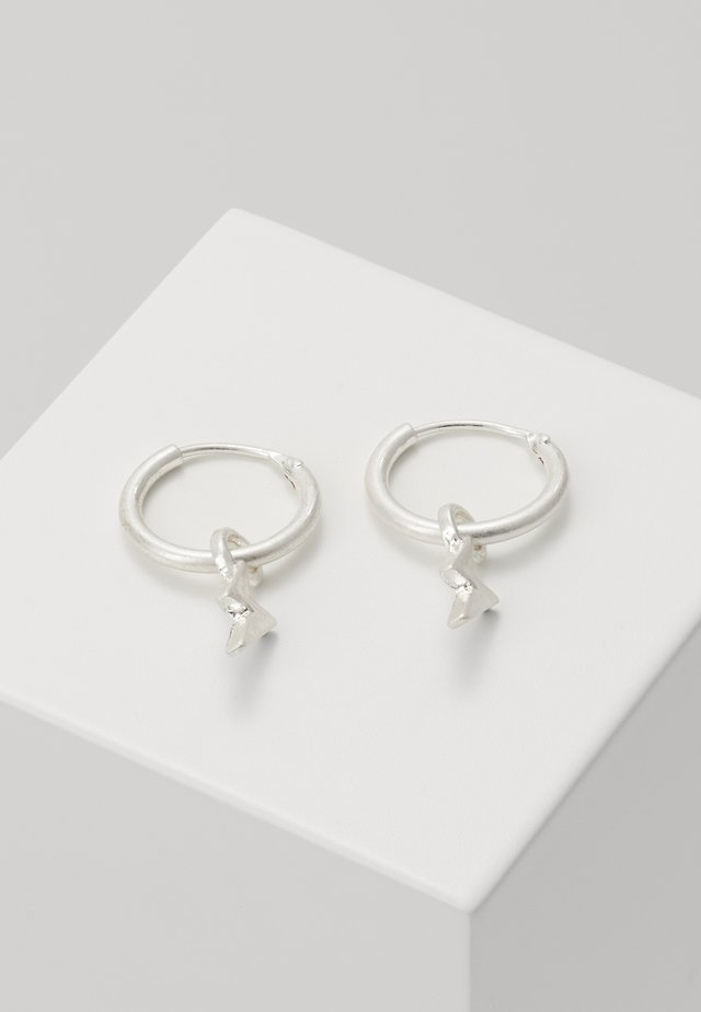 LIGHTNING HOOP EARRINGS - Orecchini - silver-coloured
