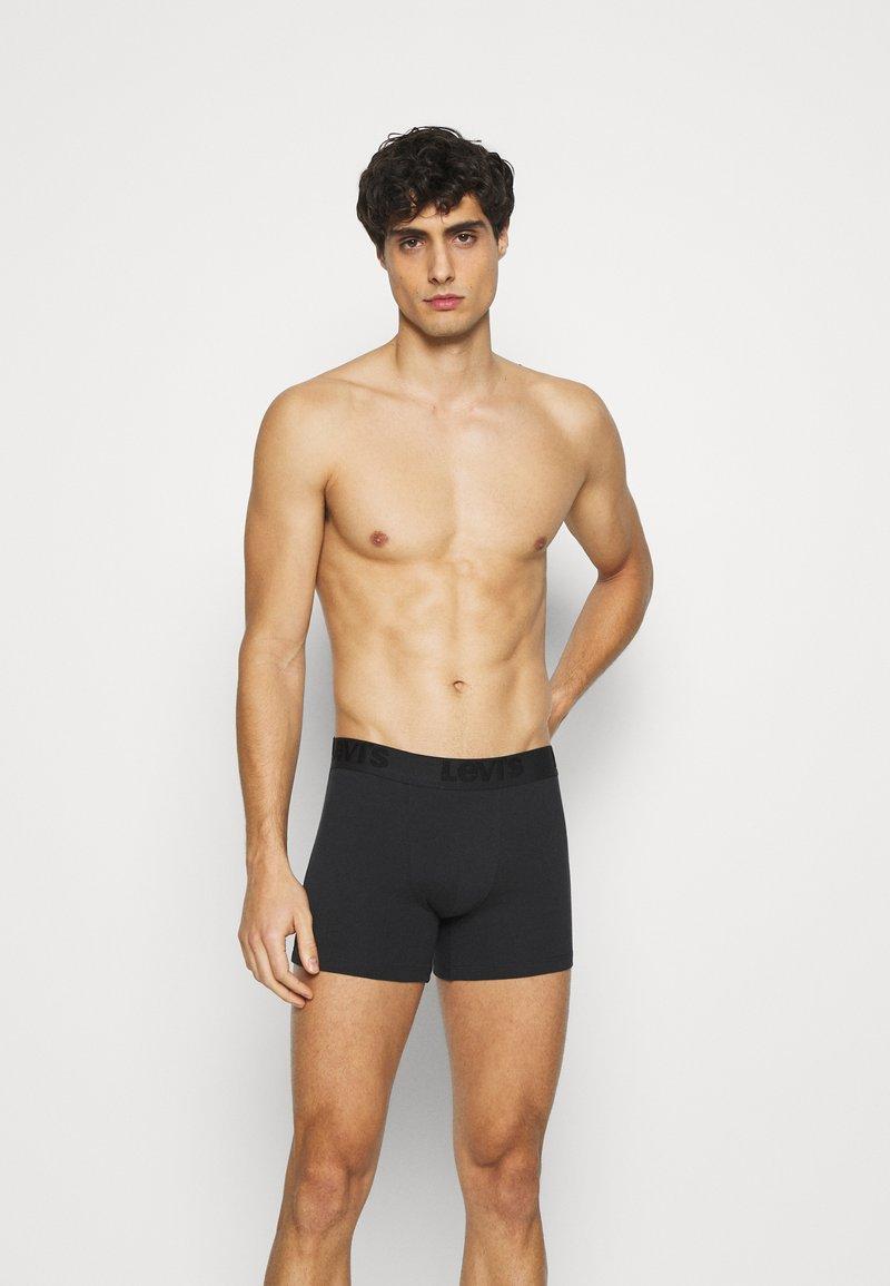 Levi's® - MEN PREMIUM BOXER BRIEF 3PACK - Panties - black/grey combo