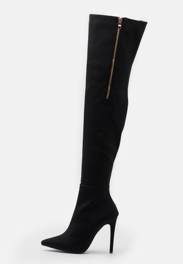 CAROLA - Kozačky na vysokém podpatku - black