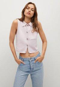 Mango - BROTO - Button-down blouse - violet clair pastel - 0