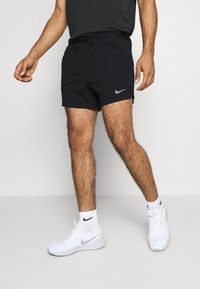 Nike Performance - RUN DIVISION FLEX STRIDE - Pantalón corto de deporte - black/silver - 0