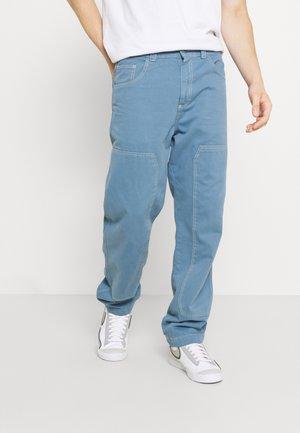 PANNEL DRILL TROUSERS - Jeans straight leg - indigo