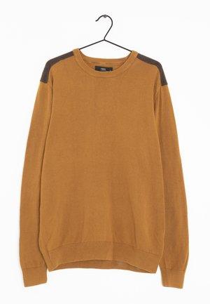 Stickad tröja - brown