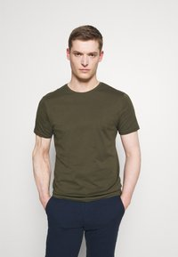Pier One - 3 PACK - T-shirt basic - olive/dark blue/grey - 4