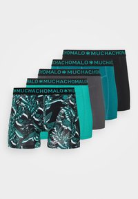 MUCHACHOMALO - TROPIC 5 PACK - Boxerky - black/green - 5