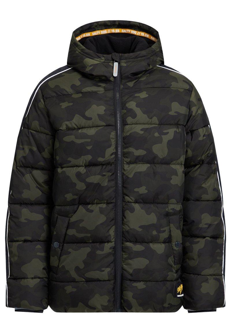 WE Fashion - MIT CAMOUFLAGEPRINT - Chaqueta de invierno - army green