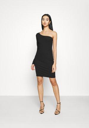 ONE SHOULDER BODYCON DRESS - Shift dress - black