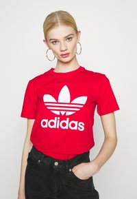 adidas Originals - TREFOIL TEE - Triko spotiskem - scarlet - 0