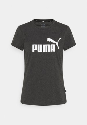 LOGO TEE - Sports shirt - dark gray heather