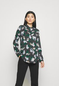 Marks & Spencer London - FLORAL CASUAL - Button-down blouse - black - 0