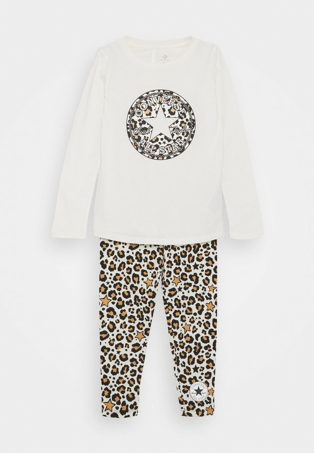 LEOPARD SET - Leggings - egret