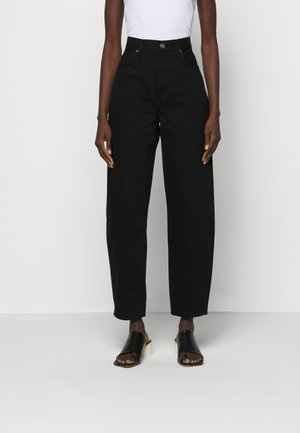 THE CURVE - Relaxed fit jeans - painted black