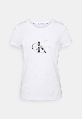 MONOGRAM TEE - T-shirts med print - white