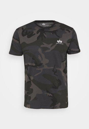 CAMO - T-shirt con stampa - black
