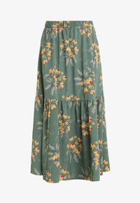 Monki - MANDY SKIRT - Falda larga - green flower - 3