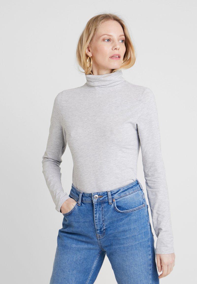 Zalando Essentials - T-shirt à manches longues - mottled light grey