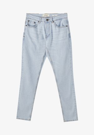 Jeansy Straight Leg - mottled light blue