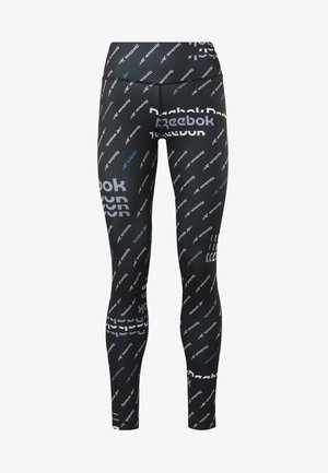 WORKOUT READY ALLOVER PRINT TIGHTS - Leggings - black