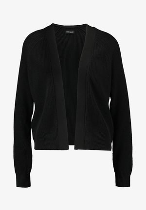 BASIC- SHORT OPEN CARDIGAN - Cardigan - black