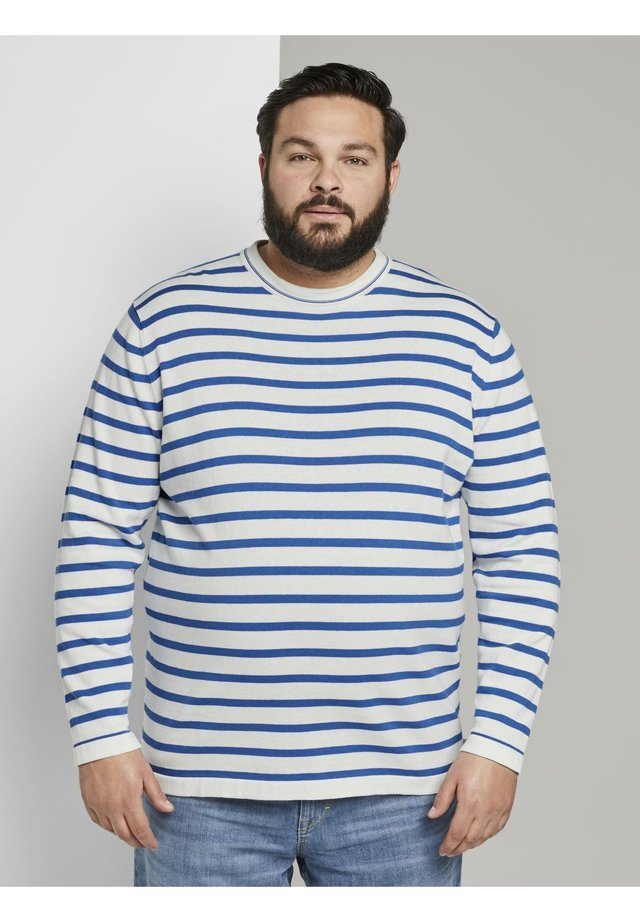 Pullover - white victory blue stripe