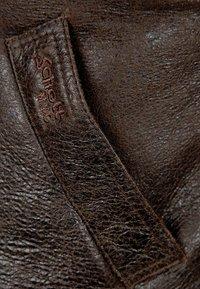 Schott - Veste en cuir - dark brown - 3