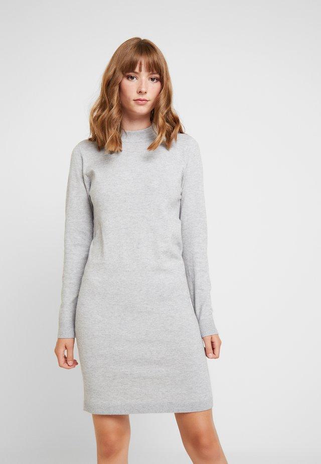 OBJTHESS DRESS - Neulemekko - light grey melange