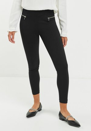 PONTE - Leggings - metallic black